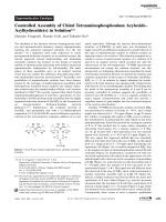 Controlled Assembly of Chiral Tetraaminophosphonium AryloxideЦArylhydroxide(s) in Solution.