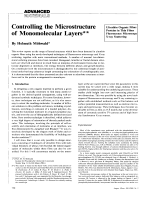 Controlling the Microstructure of Monomolecular Layers.