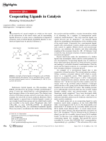 Cooperating Ligands in Catalysis.