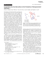 Cooperative IonЦIon Interactions in the Formation of Interpenetrated Molecules.