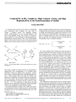 Cooperativity in Rh2 Complexes  High Catalytic Activity and High Regioselectivity in the Hydroformylation of Olefins.
