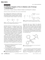 Coordination Chemistry of Ene-1 1-diamines and a Prototype УCarbodicarbeneФ.