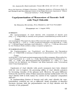 Copolymerization of monoesters of itaconic acid with vinyl chloride.