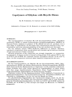 Copolymers of ethylene with bicyclic dienes.