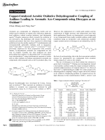 Copper-Catalyzed Aerobic Oxidative Dehydrogenative Coupling of Anilines Leading to Aromatic Azo Compounds using Dioxygen as an Oxidant.