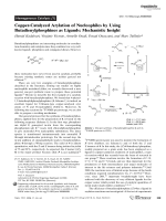 Copper-Catalyzed Arylation of Nucleophiles by Using Butadienylphosphines as Ligands  Mechanistic Insight.