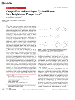 Copper-Free AzideЦAlkyne Cycloadditions  New Insights and Perspectives.