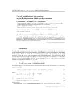 Cornell and Coulomb interactions for the D-dimensional Klein-Gordon equation.