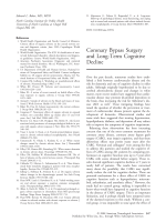 Coronary bypass surgery and long-term cognitive decline.