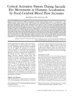 Cortical activation pattern during saccadic eye movements in humans  Localization by focal cerebral blood flow increases.