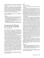 Corticosteroid therapy and tourette syndrome.