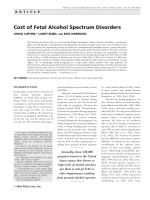 Cost of fetal alcohol spectrum disorders.