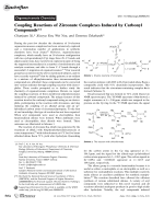 Coupling Reactions of Zirconate Complexes Induced by Carbonyl Compounds.