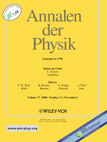 Cover  Ann. Phys. 112008