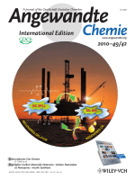 Cover Picture  Sugar-Derived Phase-Selective Molecular Gelators as Model Solidifiers for Oil Spills (Angew. Chem. Int. Ed. 422010)