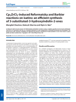 Cp2ZrCl2-induced Reformatsky and Barbier reactions on isatins  an efficient synthesis of 3-substituted-3-hydroxyindolin-2-ones.