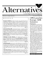 CPR launches Europe ADR initiative.