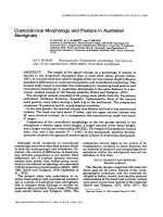 Craniocervical morphology and posture in Australian aboriginals.