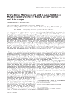 Craniodental mechanics and diet in Asian colobines  Morphological evidence of mature seed predation and sclerocarpy.