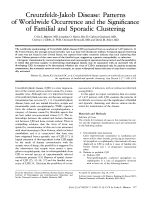 Creutzfeldt-Jakob disease  Patterns of worldwide occurrence and the significance of familial and sporadic clustering.