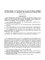 Critical Study of Falkenhagen and Kelbg's Method for Derivation of Statistics for Particles of Finiten Size.