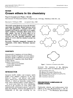 Crown ethers in tin chemistry.