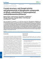 Crystal structure  anti-fungal activity and phytotoxicity of diorganotin compounds of dihalo-substituted [(2-hydroxyphenyl) methylideneamino]thiourea.