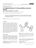 Crystallographic report  (2 2-Bipyridine)bis(N N-dibenzyldithiocarbamato)zinc(II).