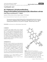 Crystallographic report  (4 7-Diphenyl-1 10-phenanthroline) bis(pyrrolinedithiocarbamato)zinc(II) chloroform solvate.