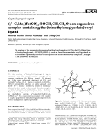 Crystallographic report  (5-C5Me5)Fe(CO)2(BOCH2CH2CH2O)  an organoiron complex containing the (trimethyleneglycolato)boryl ligand.