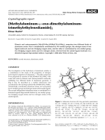 Crystallographic report  [Methylaluminum-╡-oxo-dimethylaluminum-trimethylethylenediamide]2.