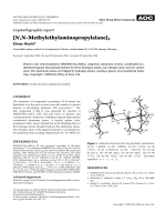 Crystallographic report  [N N-Methylethylaminopropylalane]2.
