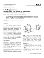 Crystallographic report  2-Furfurylgermatrane.
