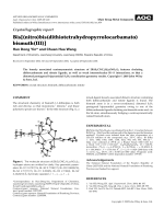 Crystallographic report  Bis[(nitro)bis(dithiotetrahydropyrrolocarbamato) bismuth(III)].