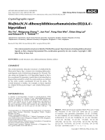 Crystallographic report  Bis[bis(N N-dibenzyldithiocarbamato)zinc(II)](4 4-bipyridine).