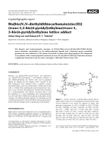 Crystallographic report  Bis[bis(N N-diethyldithiocarbamato)zinc(II)] (trans-1 2-bis(4-pyridyl)ethylene)trans-1  2-bis(4-pyridyl)ethylene lattice adduct.