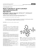 Crystallographic report  Bis[N N-dimethyl-N-(pyrid-2-ylmethyl)-ethylenediamine]zinc(II) diperchlorate.