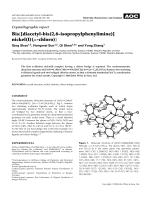 Crystallographic report  Bis{[diacetyl-bis(2 6-isopropylphenylimine)]nickel(I)(╡-chloro)}.