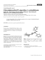 Crystallographic report  Chlorodiphenyltin(IV) piperidine-1-carbodithioate.