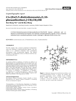 Crystallographic report  Cis-[Zn(3 5-dinitrobenzoato)2(1 10-phenanthroline)2]╖CH3CH2OH.