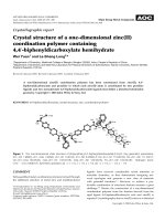 Crystallographic report  Crystal structure of a one-dimensional zinc(II) coordination polymer containing 4 4-biphenyldicarboxylate hemihydrate.