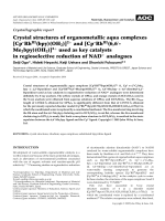 Crystallographic report  Crystal structures of organometallic aqua complexes [Cp.837
