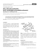 Crystallographic report  Di(o-chlorobenzyl)tin(IV) bis(N-methylpiperazinyldithiocarbamate).