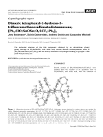 Crystallographic report  Dimeric tetraphenyl-1-hydroxo-3-trifluoromethanesulfonatodistannoxane  [Ph2(HO)SnOSn(O3SCF3)Ph2]2.
