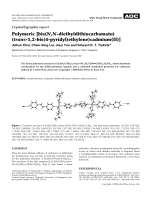 Crystallographic report  Polymeric [bis(N N-diethyldithiocarbamato) (trans-1 2-bis(4-pyridyl)ethylene)cadmium(II)].