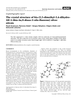 Crystallographic report  The crystal structure of bis-(3 3-dimethyl-3 4-dihydro-2H-1-thia-4a 9-diaza-3-sila-fluorene) silver nitrate.