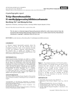 Crystallographic report  Tri(p-fluorobenzyl)tin N-methylpiperazinyldithiocarbamate.