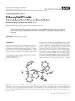 Crystallographic report  Tribenzyltin(IV) azide.