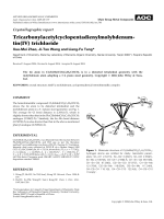 Crystallographic report  Tricarbonylacetylcyclopentadienylmolybdenumtin(IV) trichloride.