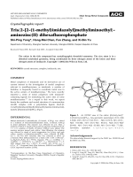 Crystallographic report  Tris{2-[2-(1-methyl)imidazolyl]methyliminoethyl}aminezinc(II) dihexafluorophosphate.